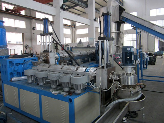 Water-ring Cutter Type Double-stage Waste PE/PP Film Recycling Machine