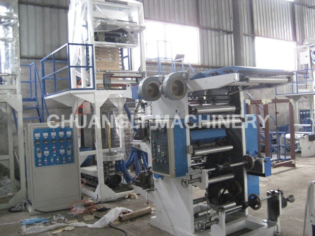 HDPE/LDPE Film Blowing and Two-color Flexographic Printing Connection Production Line