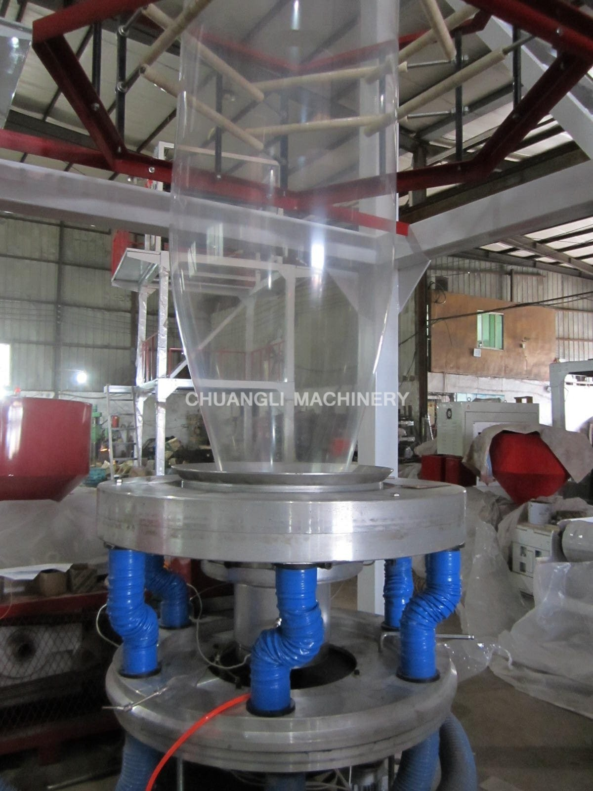 SJ-55/SJ-65/SJ-75 HDPE/LDPE Film Blowing Machine with Rotary-die Head and Double Winder