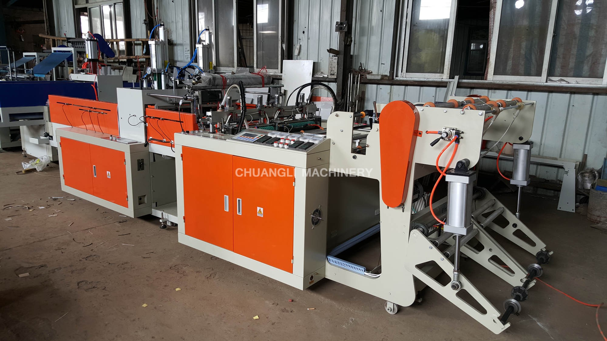 Full Auto Double-line Plastic T-shirt Bag Making Machine (Hot Cutting Type)