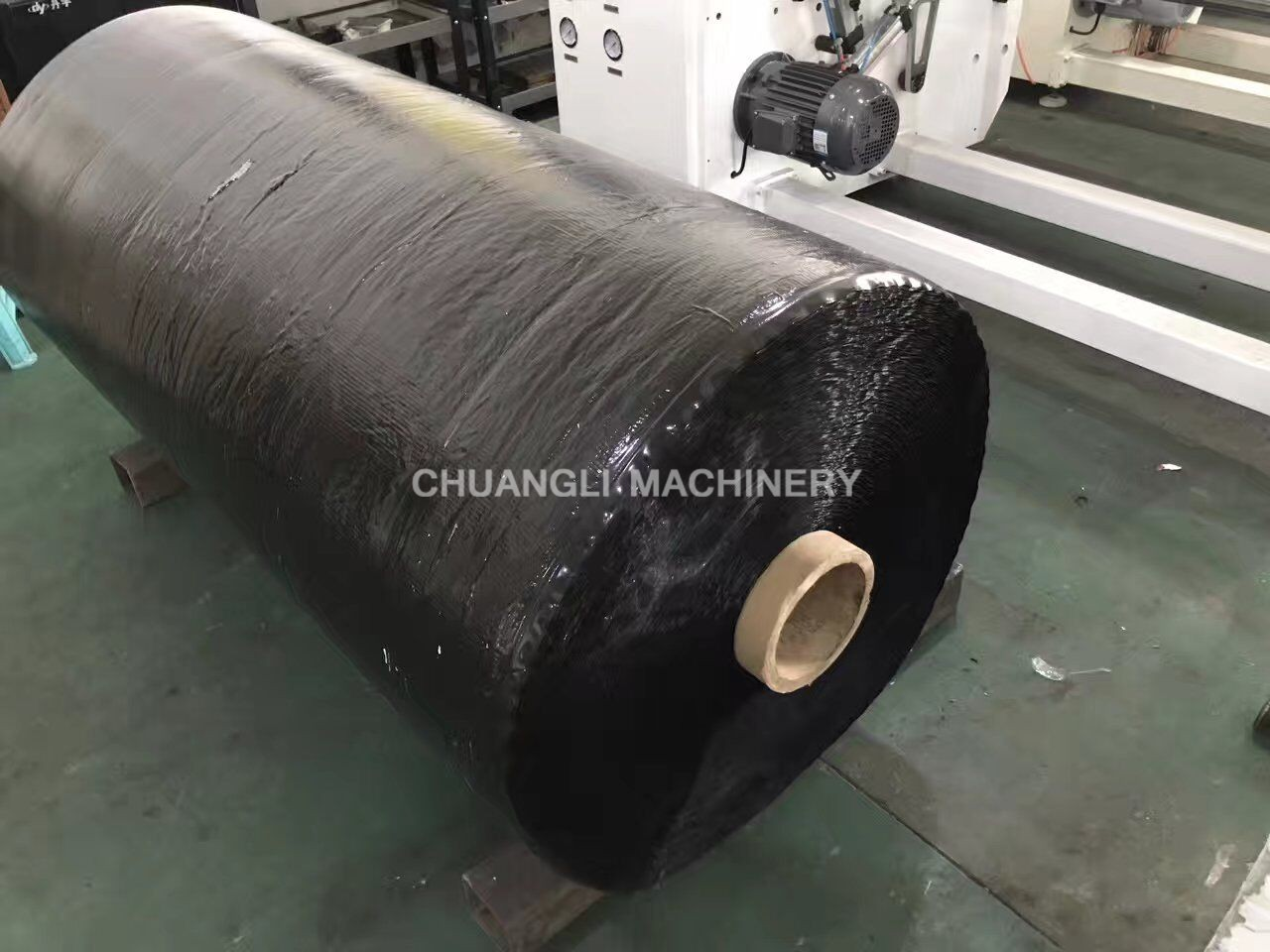 SG-R1300-1600A Auto Double-shaft Adhesive Tape Jumbo Roll Rewinding Machine