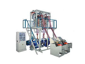 SJ-55/SJ-65 Single-screw Double-die Heads HDPE/LDPE Film Blowing Machine