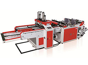 High-speed Full Auto Two-line Plastic T-shirt Bag Making Machine