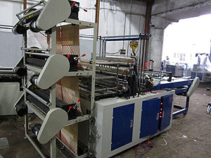 Computer Control Six-line Flat Bottom Sealing and Cutting Bag Machine