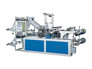 Computer Control Rolled Flat Open Bag/T-shirt Bag Making Machine