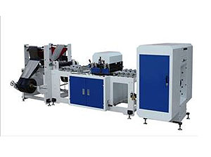 Full Auto Two-line 8-folding Coreless Rolled Garbage Bag Making Machine