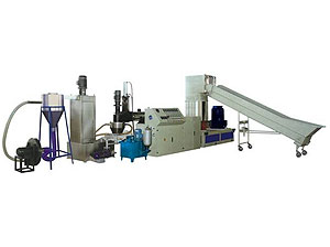 Water-ring Cutter Type Single-stage Waste PE/PP Film Recycling Machine