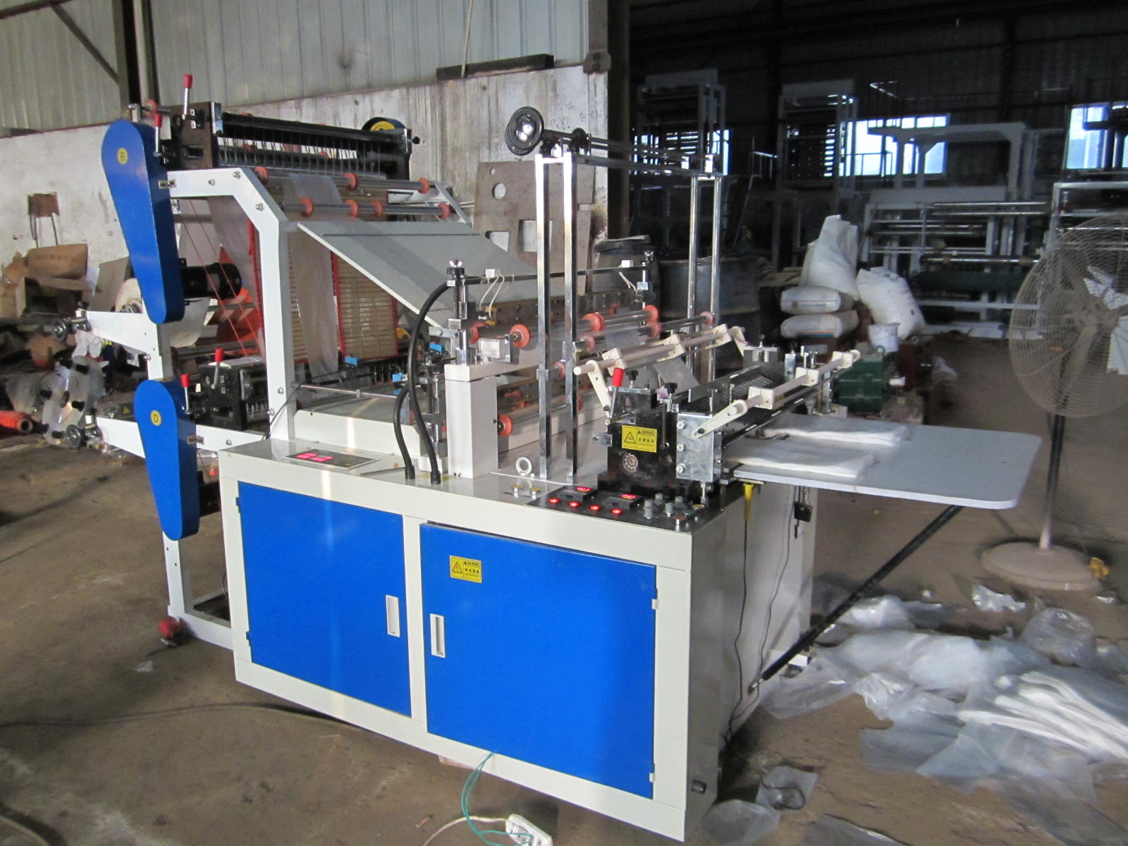 Computer Control Four-line Flat Bottom Sealing and Cutting Bag Machine